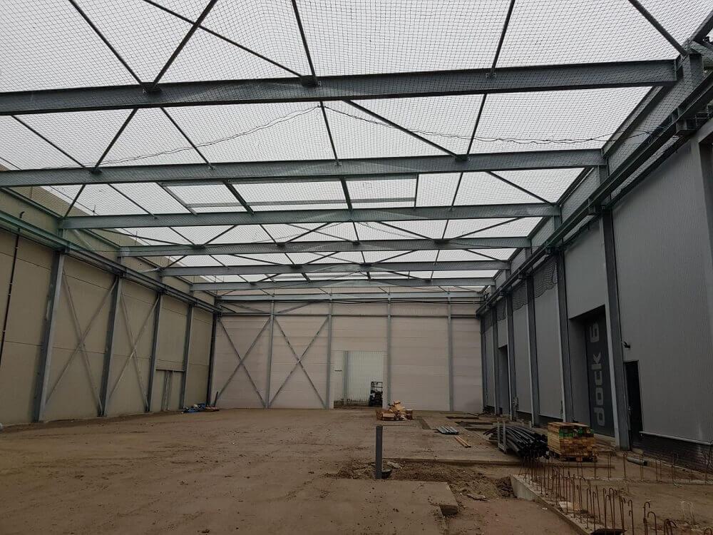 Tijdelijke valbeveiliging bouw bedrijfshal Beusichem