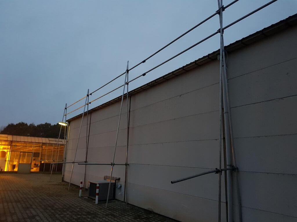 tijdelijke valbeveiliging voor hellend dak